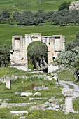 Arch of Septimius Severus, Roman ruins. Dougga. Tunisia