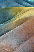 Chamarel coloured earths. Mauritius