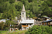 Architecture, Bell tower, Bell towers, Bonneval sur arc, Church, Churches, Color, Colour, Daytime, Exterior, France, Horizontal, House, Houses, Outdoor, Outdoors, Outside, Savoie, Tower, Towers, Travel, Travels, Village, Villages, World locations, World
