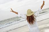 emporary, Curly hair, Daytime, Diagonal, Dress, Dresses, Exterior, Female, Hat, Hats, Headgear, Horiz