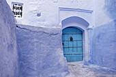 House door. Chechaouene. Morocco
