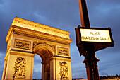 Arc de Triomphe at Charles de Gaulle square. Paris. France
