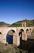 Roman bridge. Alcantara. Caceres province. Extremadura. Spain