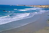 Beach and cliffs near the town of Conil de la Frontera, at Costa de la Luz. Cádiz province. Andalusia. Spain