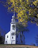 Fall foliage, Church, Strafford, Vermont, USA