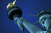 Torch, Statue of liberty, New York harbor, New York, USA