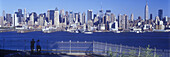 Midtown New York skyline, From weehawken, New jersey, USA