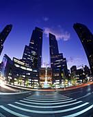 Time warner towers, Columbus circle, Upper west side, Manhattan, New York, Usa