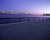Downtown skylines, Manhattan, New York, Jersey City, New jersey, USA