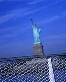 Statue of liberty ferry, New York harbor, New York, USA