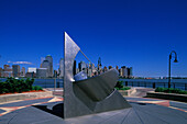 Sun dial, Jersey City waterfront, New jersey, USA