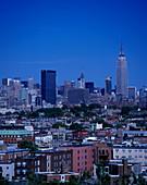 Overlook rooftops, Hoboken, New jersey, To manhattan, New York, USA