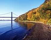 George washington bridge, Palisades, Hudson river, New jersey, USA