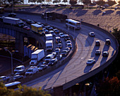 Traffic, Approach ramp, Lincoln tunnel, Weehawken, New jersey, USA