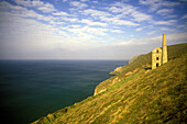 Scenic old tin mine, Saint agnes, Cornwall coastline, England, U.k