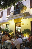 Byzantino Taverna at Kidathineon Street in Plaka District. Athens. Greece