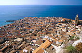 Sight from La Rocca. Cefalu. Sicily. Italy