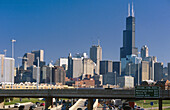Sight with the Sears Tower. Chicago. Illinois. USA