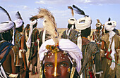Wodabe or Bororo man. Cure Salee Festival. River Niger. Republic of Niger.