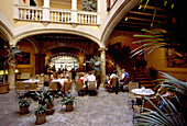 Antique courtyard, Palma de Mallorca. Majorca, Balearic Islands. Spain