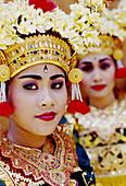 Ramaya Dance. Balinese dancers from Ubud. Bali. Indonesia