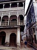 The old Dispensary which has been renovated by the Aga Khan Charitable Trust, Zanzibar Town (Stone Town), Unguja Island, Zanzibar Archipelago, Tanzania, East Africa
