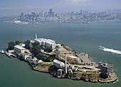 Alcatraz island converted in 1934 in high security prison (it closed in 1963), San Francisco. California, USA