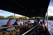 Boat transporting passangers to Yasawa Island, Yasawa group, Fiji, South Sea