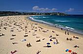 the most famous beach of the city, Bondi Beach, Sydney, New South Wales, Australia