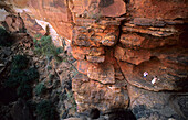 Two tourists at Kings Canyon in Watarrka National Park, Central Australia, Northern Territory, Australia