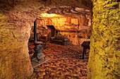 Dug out, underground house in what once was an opal mine, Coober Pedy, South Australia, Australia