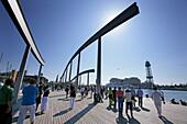 Harbor Rambla de Mar, Barcelona, Katalanien, Spain