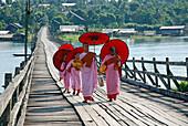Nuns in Sanglaburi. Thailand.