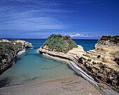 Sandstone rock formations. Sidari. Corfu. Greece