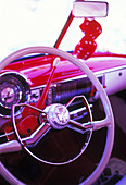 Auto, Automobile, Automobiles, Autos, Car, Cars, Classic, Close up, Close-up, Closeup, Color, Colour, Concept, Concepts, Dashboard, Dashboards, Daytime, Detail, Details, Exterior, Monochromatic, Monochrome, Old fashioned, Old-fashioned, Outdoor, Outdoors