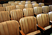 Arrangement, Audience, Auditorium, Brown, Chair, Chairs, Color, Colour, Detail, Details, Empty, Hall, Horizontal, Indoor, Indoors, Inside, Interior, Isolation, Lecture hall, Lecture halls, Line, Lines, Meeting, Nobody, Order, Row, Rows, Seat, Seats, Wait