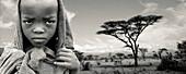 Shepherd and acacia, Ethiopia
