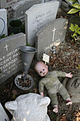 Child tombs on kid s cemetery in Amsterdam, Netherlands.