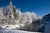 Snowcovered landscpae in Upper Bavaria, Germany