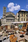Antiques market, Arezzo. Tuscany, Italy