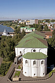 View from the belfry of Spaso-Preobrazhensky (Transfiguration of the Saviour) Monastery, Yaroslavl. Golden Ring, Russia
