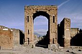 Ruins of the old Roman city of Pompeii. Campania, Italy