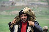 Shepherd near Khor Virap. Armenia