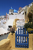 Aegean Sea, Architecture, Blue, Building, Buildings, Church, Churches, Color, Colour, Cyclades, Daytime, Dome, Domes, Europe, Exterior, Greece, House, Houses, Island, Islands, Mediterranean Sea, Oia, Oía, Outdoor, Outdoors, Outside, Overview, Overviews,