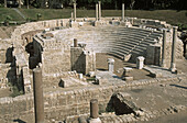 Ancient Roman amphitheatre at Kom el-Dika archaeological site, Alexandria. Egypt