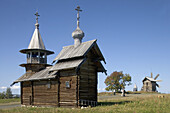 The Archangel Michael Chapel, beginning of XVIIIth century. Kizhi Island. Onega lake, Karelia. Russia.