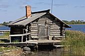 Village of Yamka. Kizhi Island. Onega lake, Karelia. Russia.