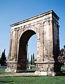 Arc de Berà, Roman arch. Tarragona province. Spain