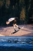 Wakeboarding, Lake Shasta. California. USA