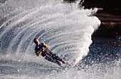 Water skiing, Columbia River. Oregon. USA